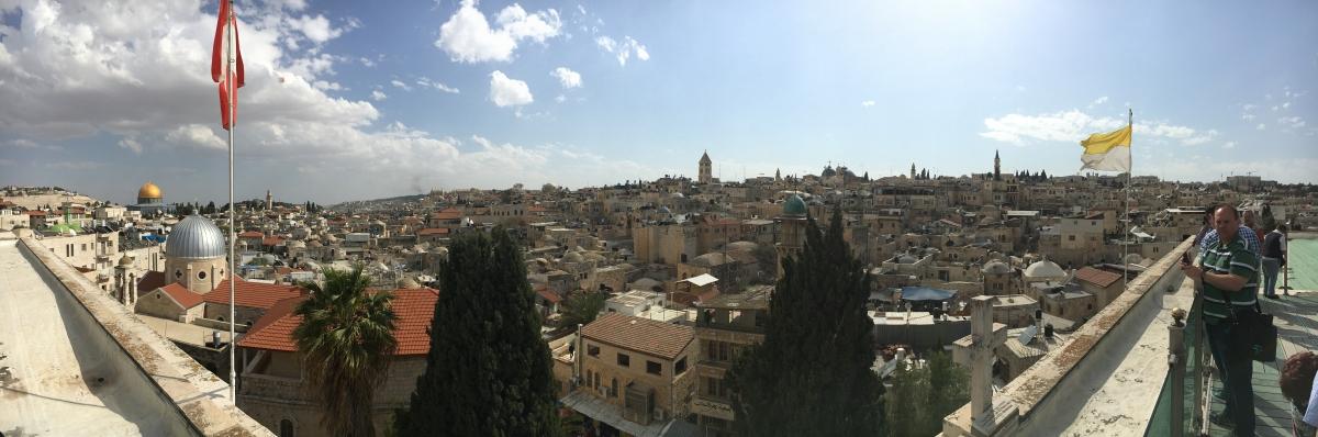 Panoramabild von der Altstadt Jerusalems