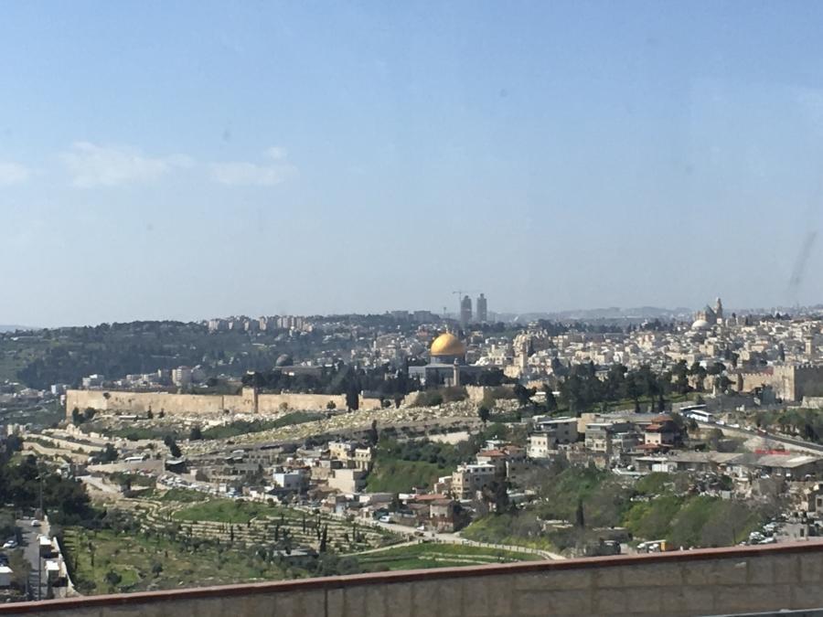Foto Jerusalem nach der Ausfahrt aus einem Tunnel