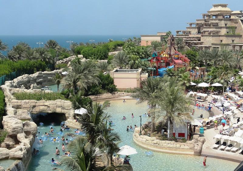 Foto vom Teil des Wasserpark des Hotels Atlantis in Dubai