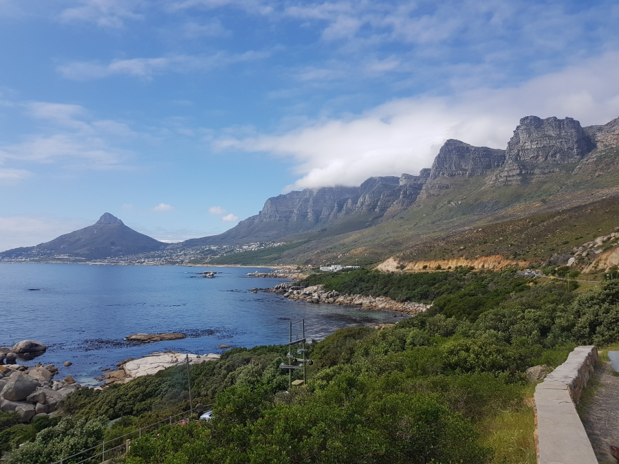 Blick auf Kapstadt bei der Anreise